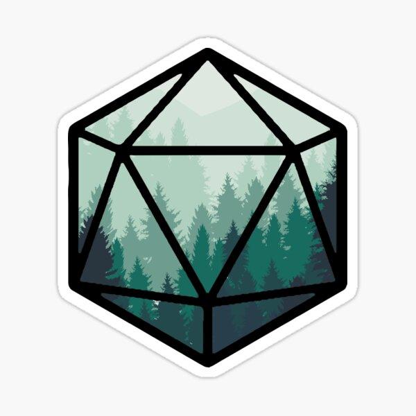 Green Forest D20 Sticker