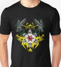 Circle of Skulls Evil Eye and Hawks T-Shirt