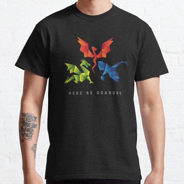 SCP-1762 Où les Dragons sont Partis Dragons de Style Origami T-shirt classique