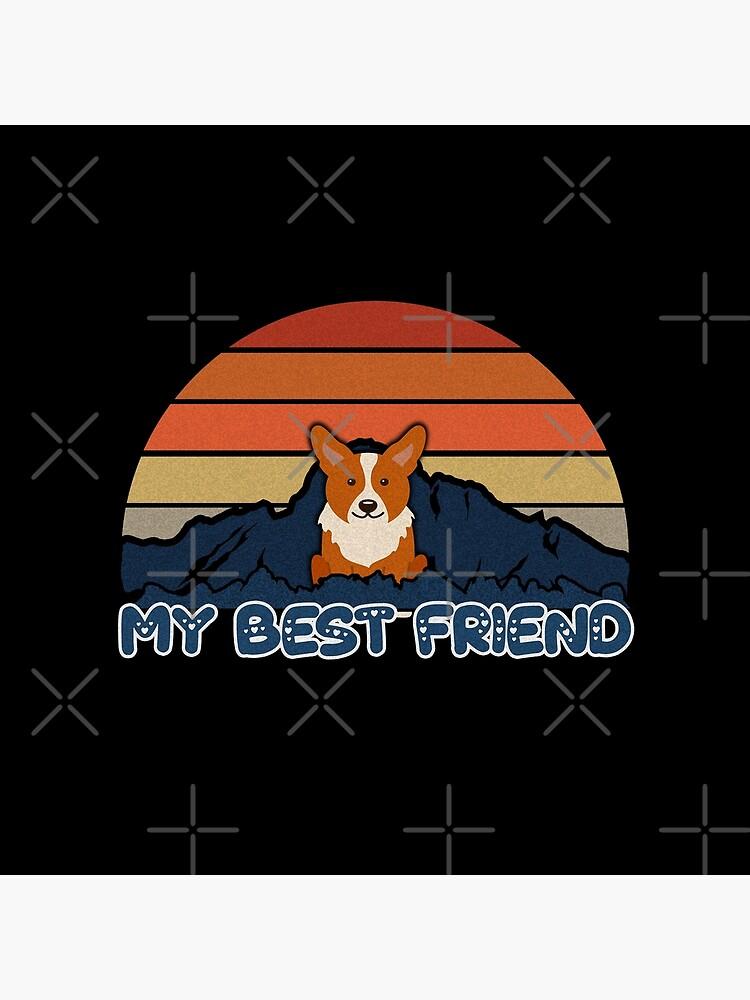 My Best Friend Welsh Corgi Cardigan - Welsh Corgi Cardigan Dog Sunset Mountain Grainy Artsy Design by dog-gifts