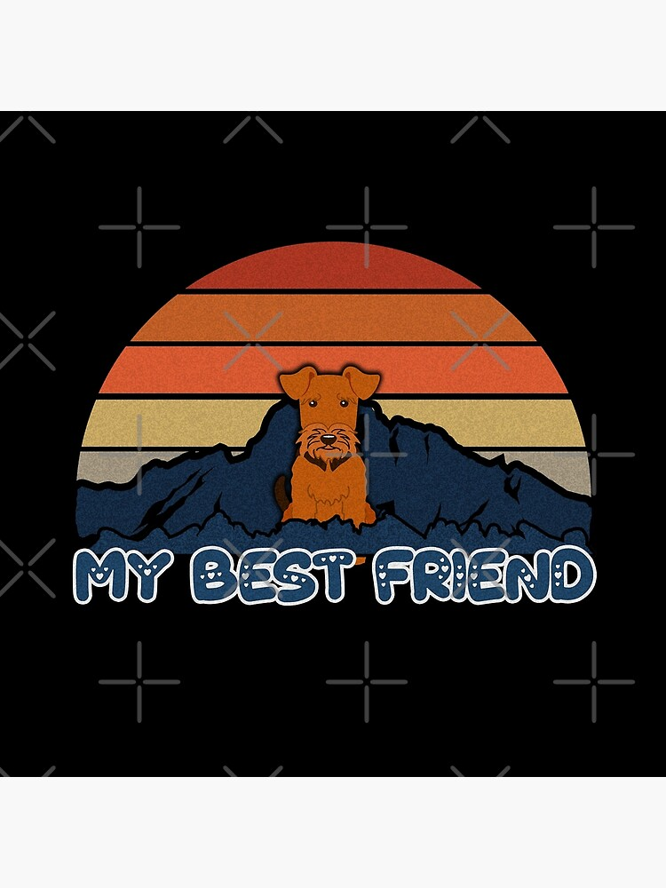 My Best Friend Welsh Terrier - Welsh Terrier Dog Sunset Mountain Grainy Artsy Design by dog-gifts