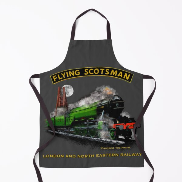 The Legendary flying Scotsman over the Forth Steam Train by Motormaniac Apron