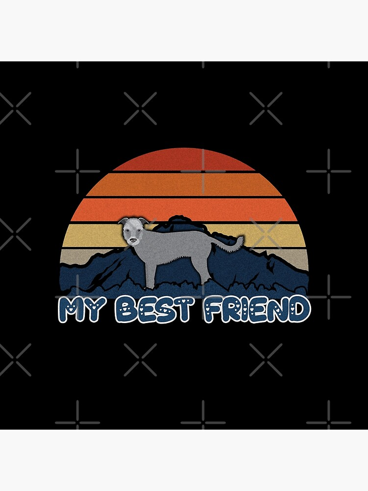 My Best Friend Wolfhound - Wolfhound Dog Sunset Mountain Grainy Artsy Design by dog-gifts