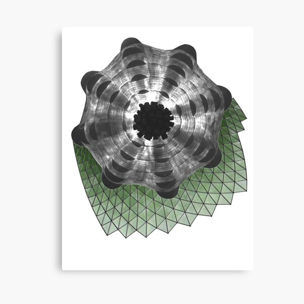 Green Structure Canvas Print