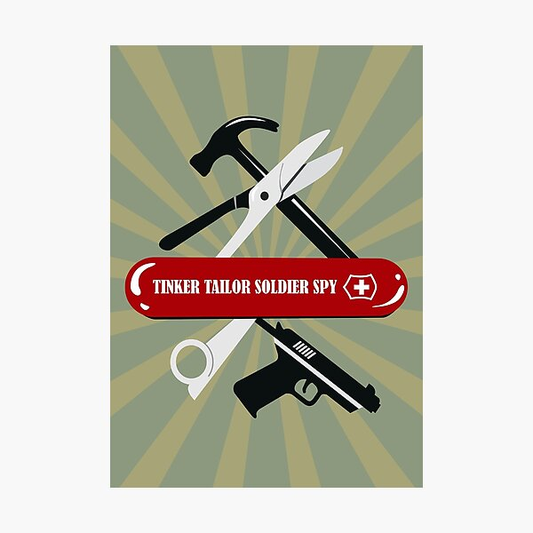 Tinker Tailor Soldier Spy - Alternative Movie Poster Photographic Print