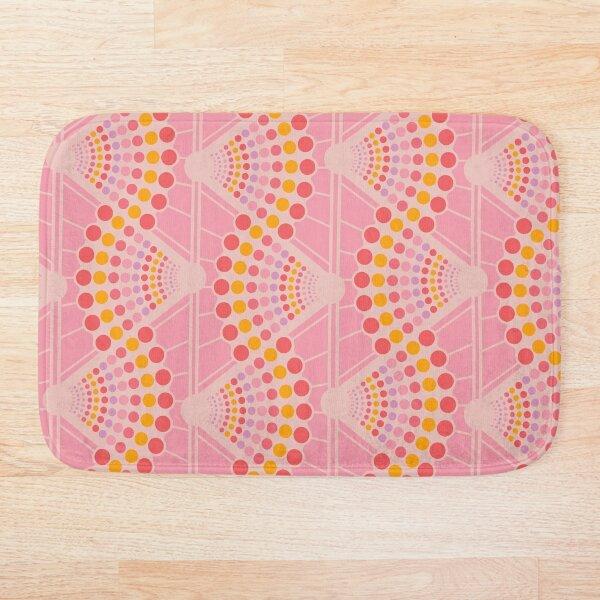Susie Fanned Spots Pink Bath Mat