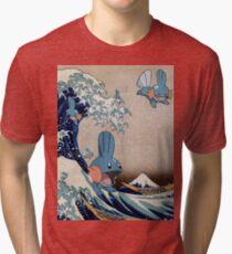 Mudkip Wave Tri-blend T-Shirt