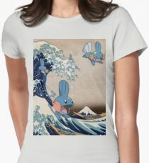 Mudkip Wave Women's Fitted T-Shirt