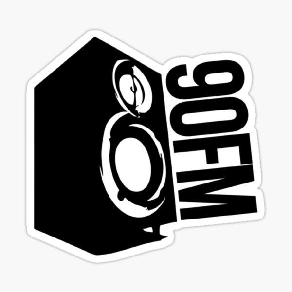 90FM Classic Logo Sticker