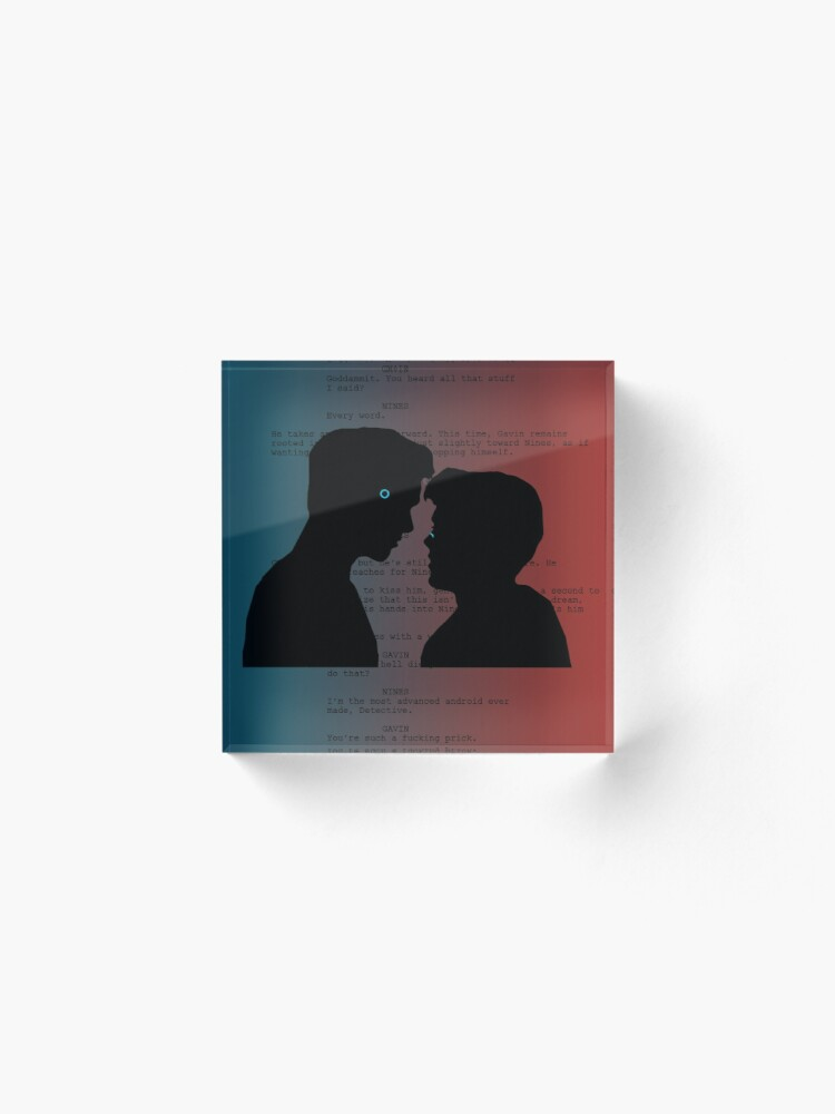 Alternate view of Reed900 Kiss Scene Script Acrylic Block