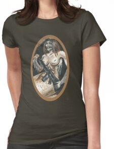 Mermaid with Rifle Womens Fitted T-Shirt