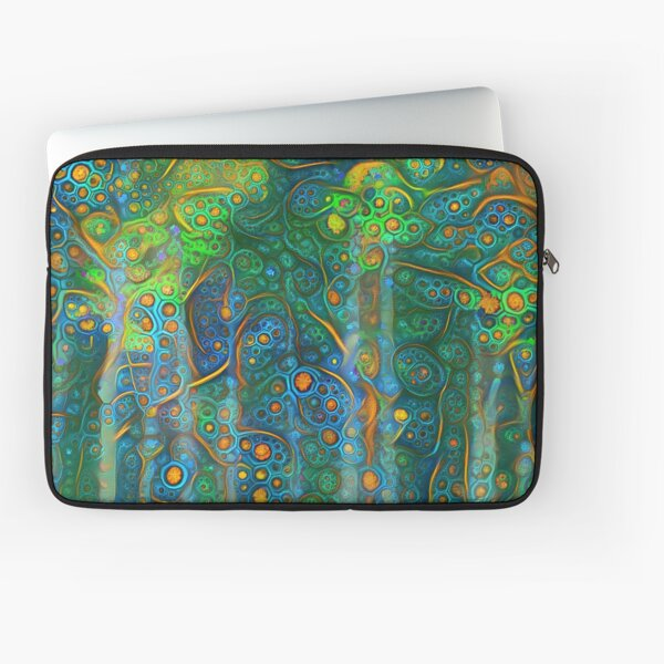 Forest abstract digital painting Laptop Sleeve