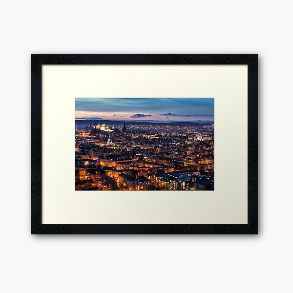 Edinburgh Glow Framed Art Print