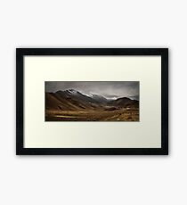 Lindis Pass New Zealand Framed Print