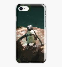"""""""Back-footed Penguin"""" by Carter L. Shepard""""  iPhone Case/Skin"""