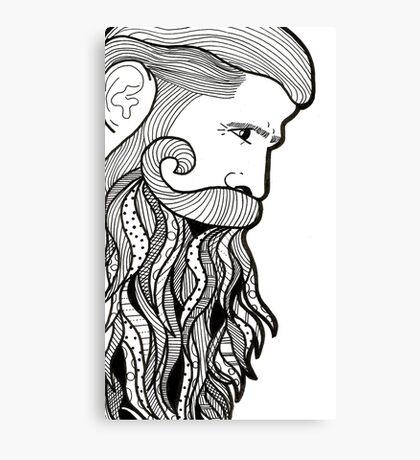 sexy beard Canvas Print