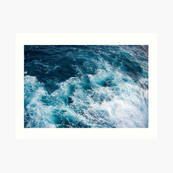 Deep Blue Ocean Waves Art Print