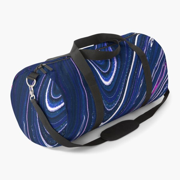 Splashes, Abstraction, Beautiful Blue Paint Duffle Bag