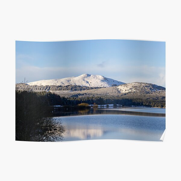 Carron Valley Reservoir in the winter Poster