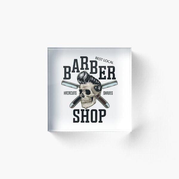 Best Local Barber Shop Acrylic Block