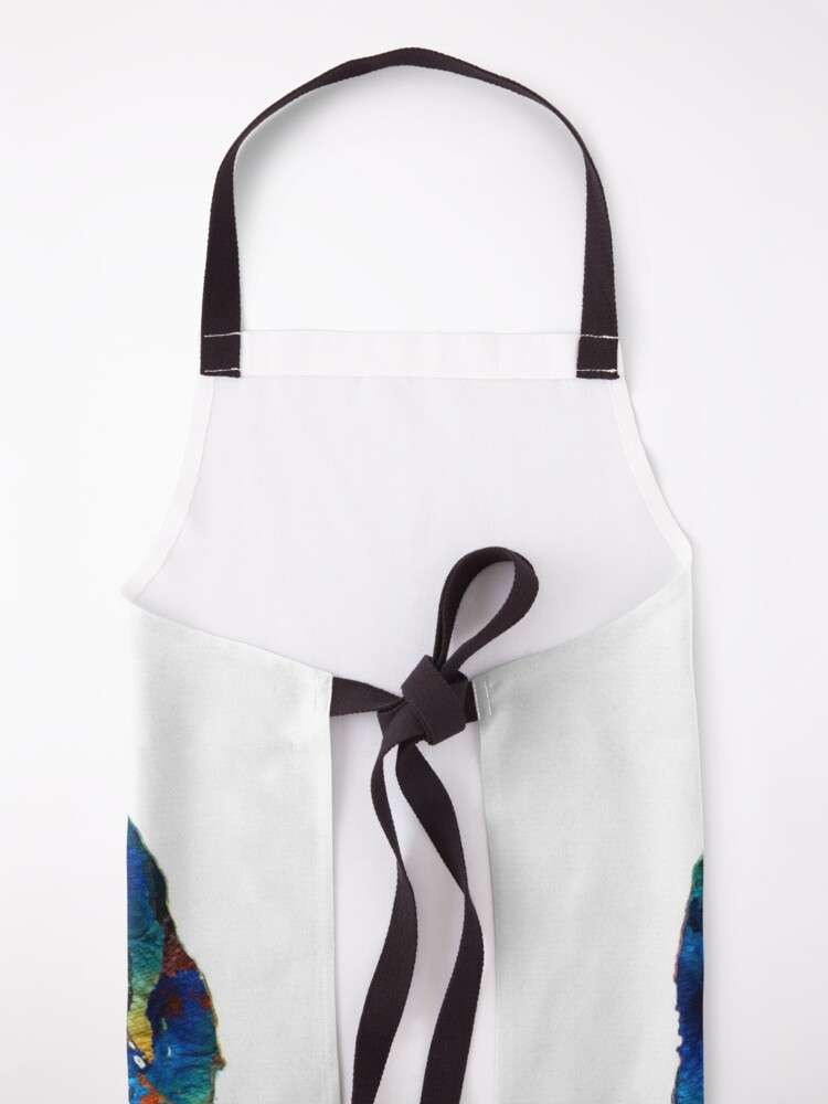 Alternate view of Colorful Saint Bernard Dog by Sharon Cummings Apron