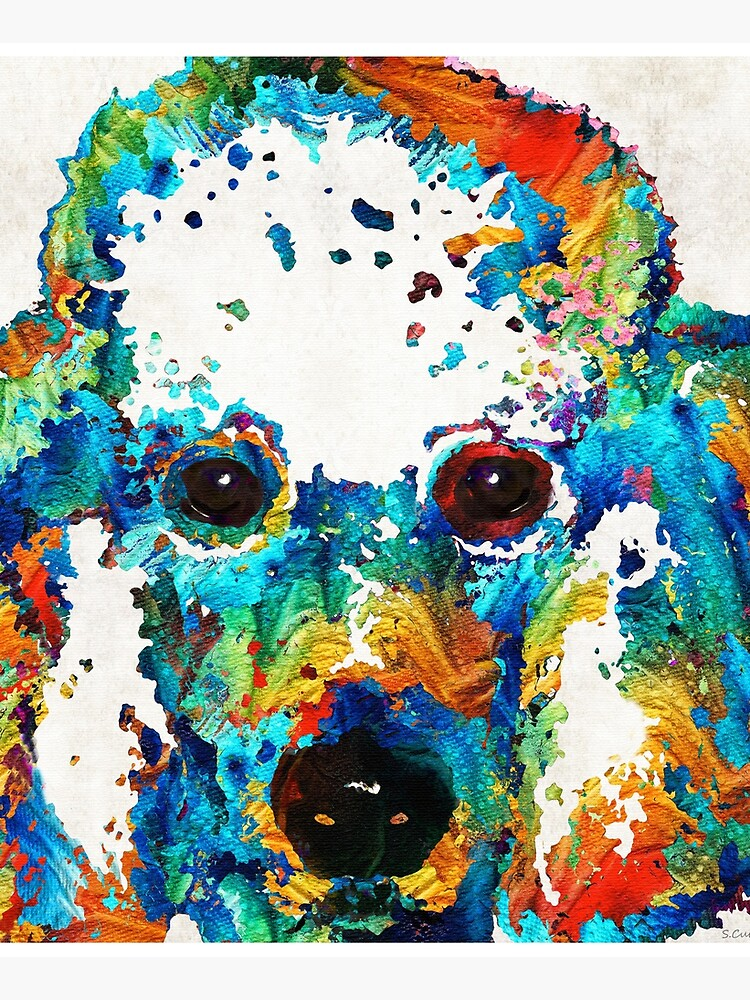 Colorful Poodle Dog Art by Sharon Cummings by SharonCummings