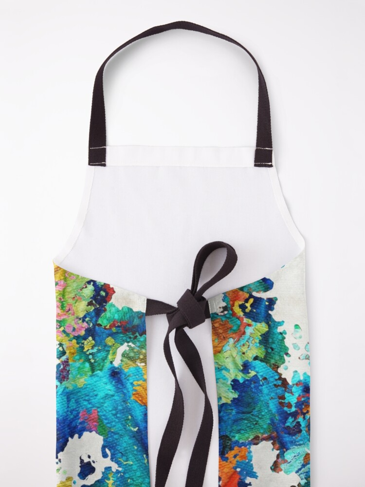 Alternate view of Colorful Poodle Dog Art by Sharon Cummings Apron