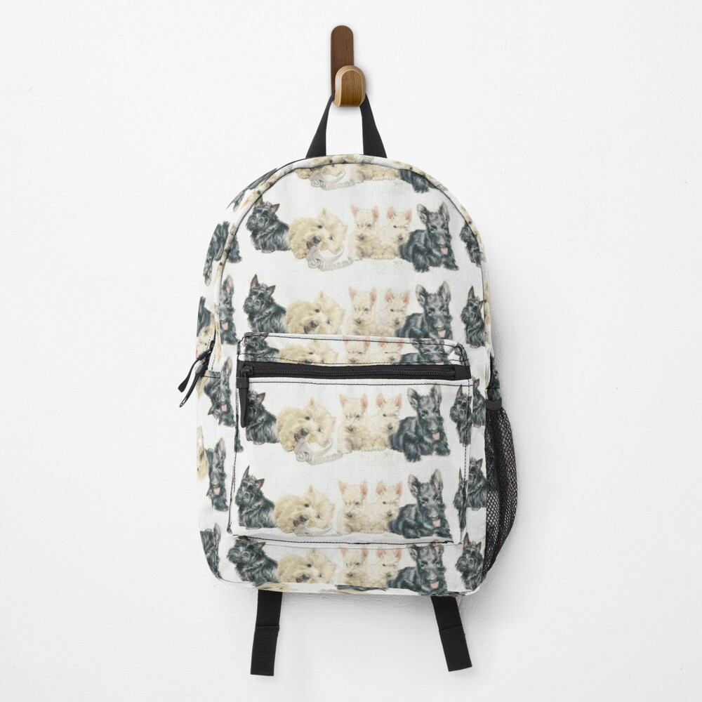Scottish Terrier Puppies Backpack