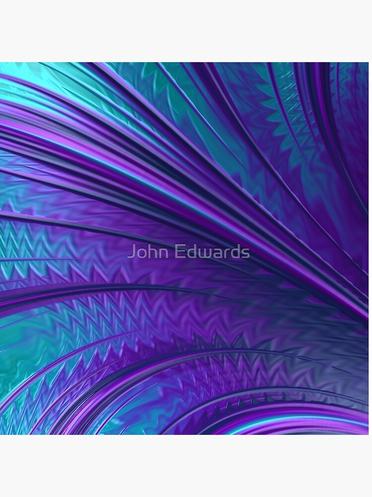 Abstract in Blue and Purple by JohnE