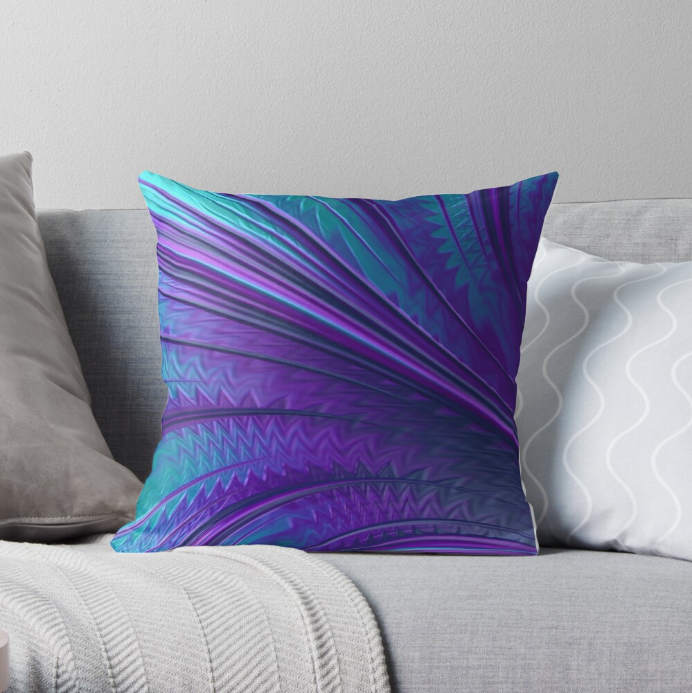 Abstract in Blue and Purple Throw Pillow
