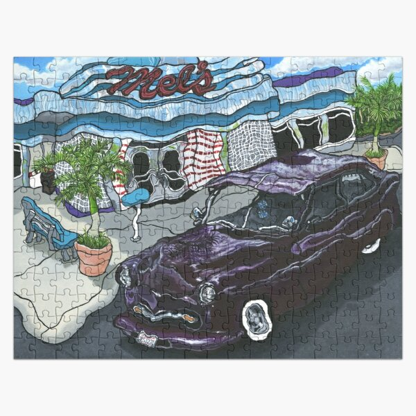 Mel's Diner ~ Painting by Dawn Langstroth ©2018  Jigsaw Puzzle