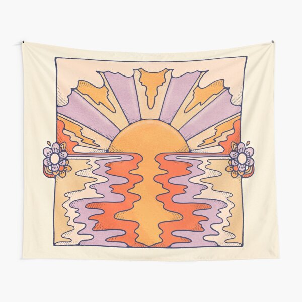 Sweet Sunset Over Byron Tapestry