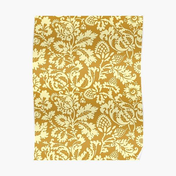 William Morris Floral Damask, Mustard Yellow  Poster