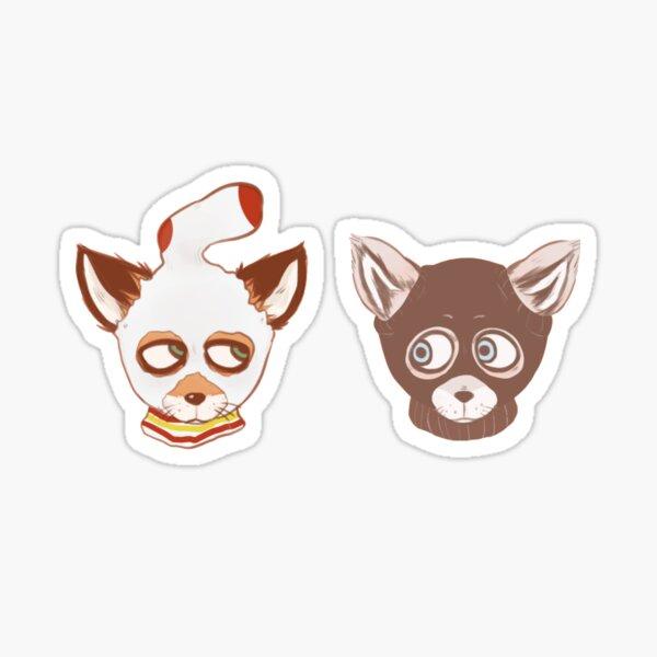 Ash and Kristofferson (Mask) Sticker
