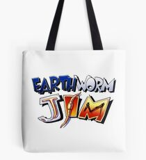 Earthworm Jim Logo Tote Bag