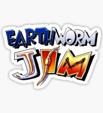 Earthworm Jim Logo Sticker