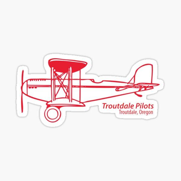 Troutdale Pilots red BiPlane Sticker