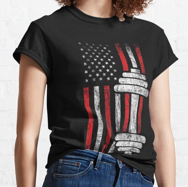 Health & Fitness Gift - American Flag - Workout Motivation Classic T-Shirt