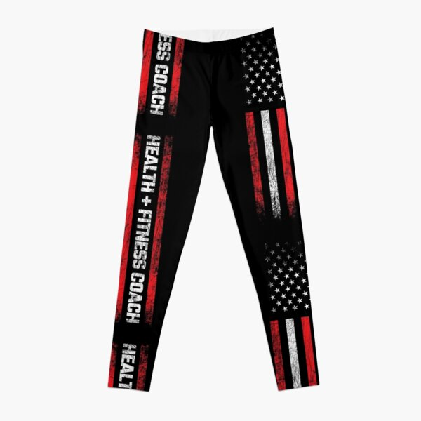 Personal Trainer - American Flag - Health & Fitness Coach Leggings