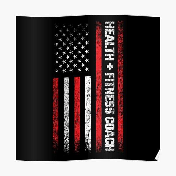 Personal Trainer - American Flag - Health & Fitness Coach Poster