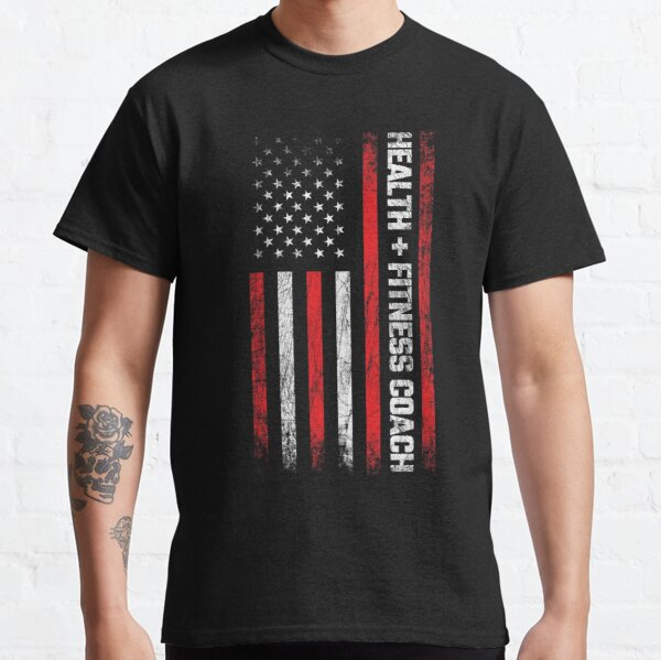 Personal Trainer - American Flag - Health & Fitness Coach Classic T-Shirt