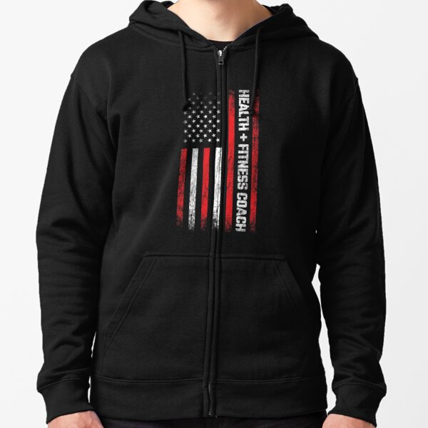 Personal Trainer - American Flag - Health & Fitness Coach Zipped Hoodie