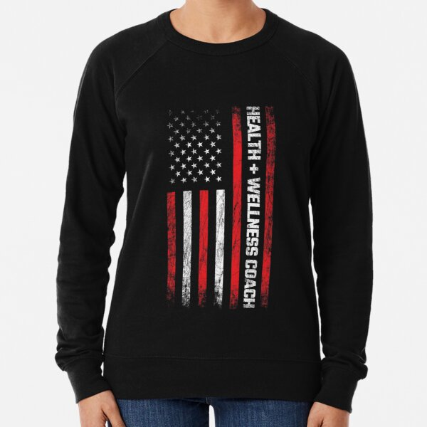Health & Wellness Gifts - American Flag - Wellness Coach Lightweight Sweatshirt