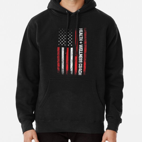 Health & Wellness Gifts - American Flag - Wellness Coach Pullover Hoodie
