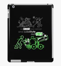 We Reject Your Cannon (Green Version) iPad Case/Skin