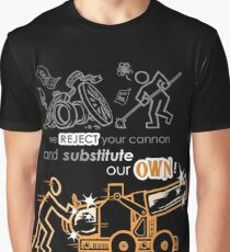 We Reject Your Cannon (Orange Version) Graphic T-Shirt