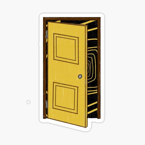 A Yellow Door Sticker