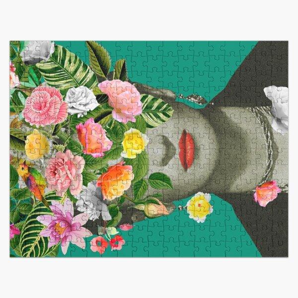 Frida Floral (Green) Jigsaw Puzzle