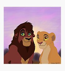 Kovu and Kiara Photographic Print