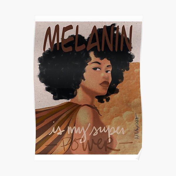 Melanin Super Power AfroLatina Poster